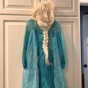Original Frozen Elsa dress with wig